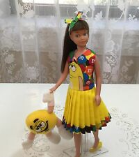 OOAK Vintage Barbie Skipper Scooter Doll Fashion Me And My M & M Doll Handmade