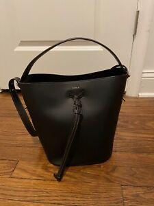 Furla Vittoria Drawstring Bucket Bag Black