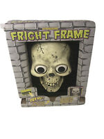 VTG Halloween Fright Frame Skull In Box For Parts Only Not Working Decoration