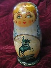 poupees russes matriochkas peintes a la main scenes de  st petersbourg