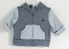 babyGAP Size 0-3 Months Boys Black White Striped Bear Hoody Jacket