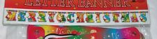 Paper MERRY CHRISTMAS Letters Decoration Banner 6.75 Feet Long