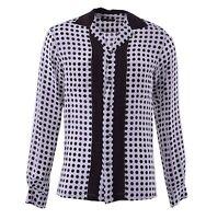 DOLCE & GABBANA Silk Shirt Riviera with Polka Dots Brown Beige 04393