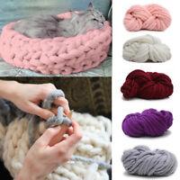 Chunky Wool Yarn Super Soft Bulky Knitting Wool Roving Yarn DIY Scarf Hat