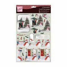 ANITAS FOILED CHRISTMAS DECOUPAGE FOR CARDS & CRAFTS - WARM YOURSELF BY THE FIRE