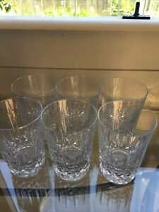 Crystal Cut Glass Whisky/Water Tumblers 6
