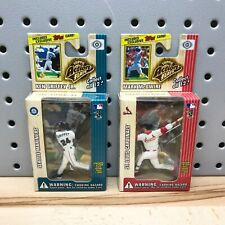 (2) Topps 1999 Ken Griffey Jr & Mark McGwire Action Flats Baseball Card/Figure
