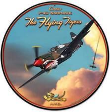 Flying Tigers Airplane Metal Sign Man Cave Garage Body Shop Club Gameroom Lg208