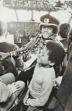 MICHAEL JACKSON / JACKSON 5 - Black & White Picture / Poster 1971 - RARE