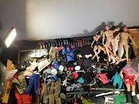 "90's-early 2003's GI Joe lot 12 Action Figures 12"" Assult, Cobra, Marine, ETC"