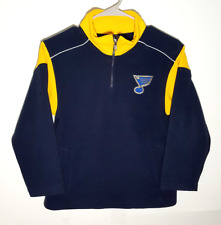 St Louis Blues Fleece Youth Jacket | Official NHL Hockey Pullover | Boys Small