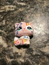 Littlest Pet Shop Postcard Pet Pink Persian Cat With Colorful Accents # 1436