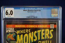 Where Monsters Dwell 24 10/73 Marvel Comics CGC Grade 6.0