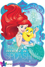 ARIEL LITTLE MERMAID PARTY SUPPLIES INVITES / INVITATION PACK OF 8