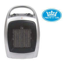 Prem-I-Air Home Office Portable Blow Air Instant Heat Upright Ceramic Heater Fan
