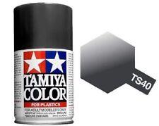 TAMIYA COLORE SPRAY PER PLASTICA METALLIC BLACK NERO METALLIZZATO 100ml ART TS40