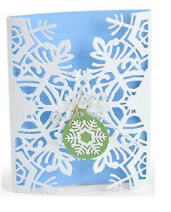 Sizzix Thinlits 4 Die Set SNOWFLAKE CARD WRAP #663606 Jordan Caderao rrp £11.99