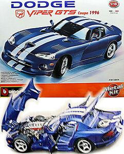 Dodge Viper GTS Coupe 1996 blau blue 1:18 Bburago Metall Bausatz Kit