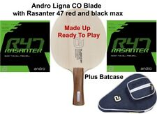 Table Tennis Bat: Andro Ligna CO Blade with Rasanter 47 Rubbers + Bat Case