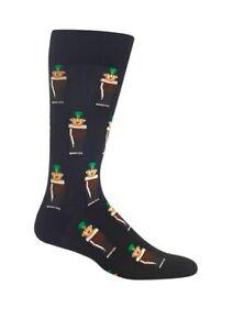 Leprechaun in Ale Hot Sox Men's Dress Crew Socks New St Patrick's Day Fashion