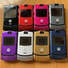 Motorola RAZR V3 Unlocked Flip Mobile Phone Original Refurbished GSM Cellphone