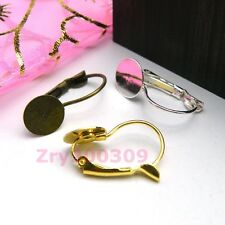 20Pcs French Earring Hooks With Pad,Silver,Gold,Bronze R0072