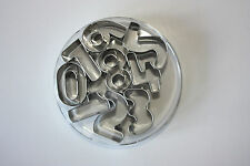 Numerical Metal Cutters, Numbers 0 - 9, Sugarcraft, Cake Decorating, Cookies