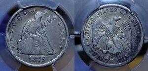 1875 CC Twenty Cent Piece 20c PCGS Fine 15 Scarce !!