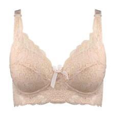 Women Lace Push-up Bra Floral Underwire Soft Back Buckle Closure 0045