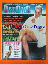 rivista DISCOTEC 10/1992 Madonna Sharon Stone Zucchero Sinead O'Connor  No cd