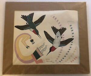 Gerald Nailor Silk Screened Print - Hummingbirds
