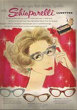50's Vintage Schaparelli Lunettes Eyewear Ad  1957