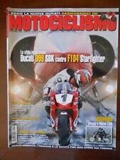 MOTOCICLISMO n°11 2004 Ducati 999 SBK Morini 1200 Malaguti Spidermax GT 500[P28]