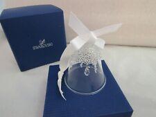 Swarovski   Christmas Bell with White Ribbon  Teardrop  c/w box