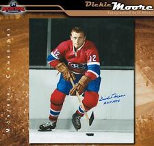 DICKIE MOORE Signed Montreal Canadiens 8X10 Photo - 70337
