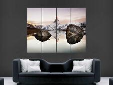 Cervino Monte Cervino Alpes Montaña Arte imagen enorme de imágenes de gran Cartel