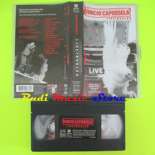 VHS VINICIO CAPOSSELA Liveinvolvo 1998 italy WARNER 90 MINUTI cd mc dvd