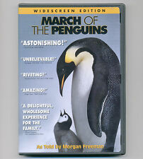 March of the Penguins 2005 G movie, DVD Morgan Freeman National Geographic ws