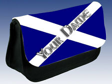 SCOTLAND SCOTTISH FLAG PERSONALISED PENCIL CASE / DS CARRIER - GIFT & NAMED TOO