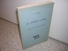 1960.la poésie latine.étude des structures phoniques / Herescu