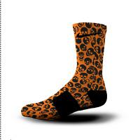 Custom Nike Elite Socks All Sizes ORANGE SKULLS