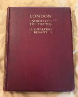 London North of the Thames Besant 1911 First Edition Huge Map Mayfair Kensington