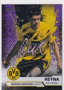 Topps BVB Borussia Dortmund Team Set Nr. 25 Giovanni Reyna # 5/50 lila sparkle