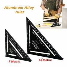 """7/12""""Metric Aluminum Alloy Speed Square Triangle Angle Protractor Guide Ruler AU"""