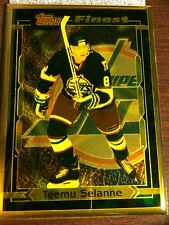 TEEMU SELANNE WINNIPEG JETS TOPPS FINEST BRONZE CARD VERY RARE HARD TO FIND