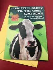 "Hallmark Happy Birthday Greeting Card ""Party Til The Cows Come Home� Humorous"