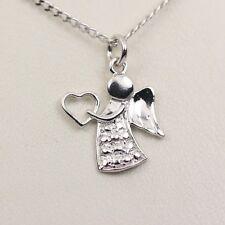 Engel Anhänger 925 Silber Schutzengel für Halskette Kette Echt Charm Taufe Neu N