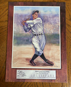 Lou Gehrig Legends of the Game #5 Collectors Series Metal Sign 16x12