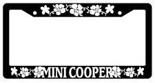 Black License Plate Frame MINI COOPER HIBISCUS Auto Accessory 1647