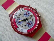 1991 Retro Chrono Swatch Watch Navy Berry  SCR100